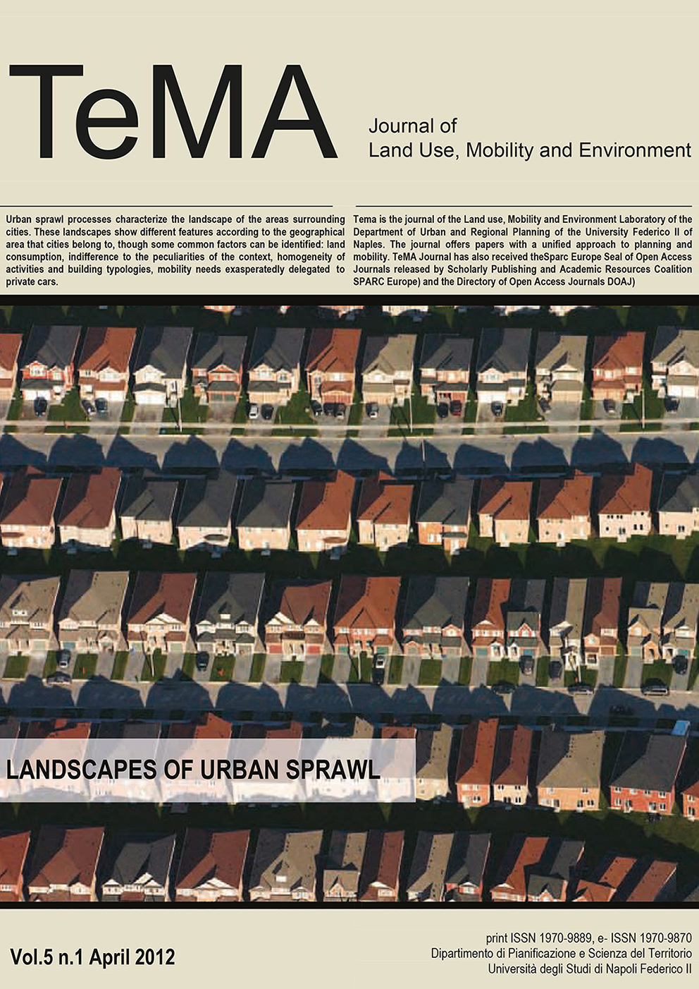 19_Vol 5, N° 1 (2012): Landscapes of Urban Sprawl